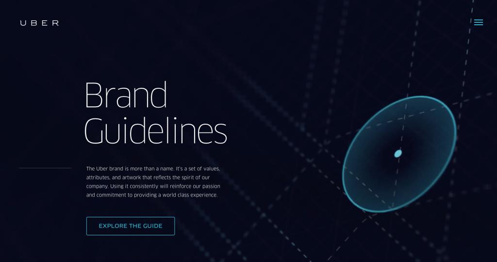 Uber Brand Guideline Branding Pleasanton