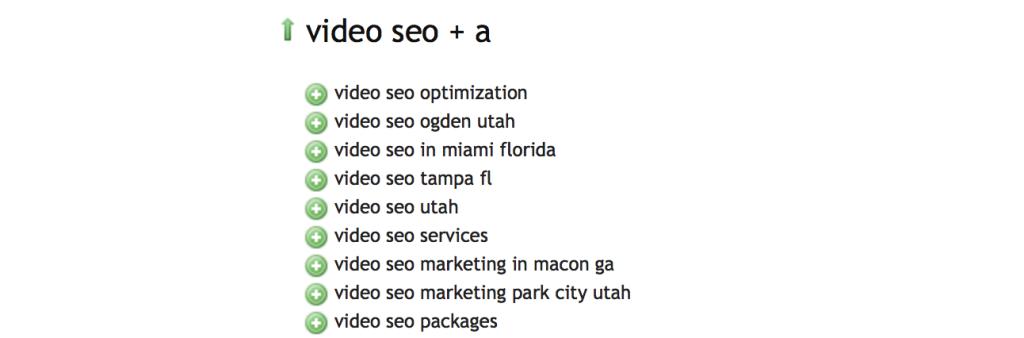 Ubbersuggest SEO tool- Video SEO