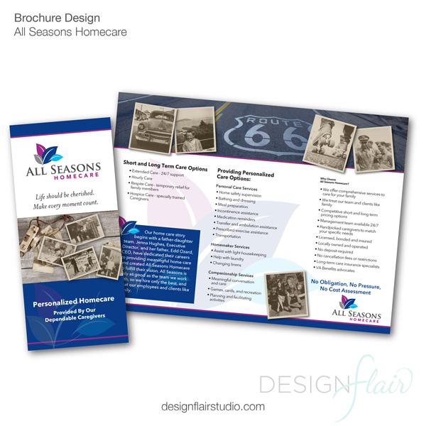 Senior Home Care Brochure, Walnut Creek Graphic Design