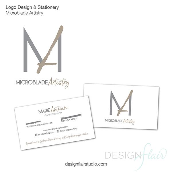Microblade Artistry, Alamo Logo Design