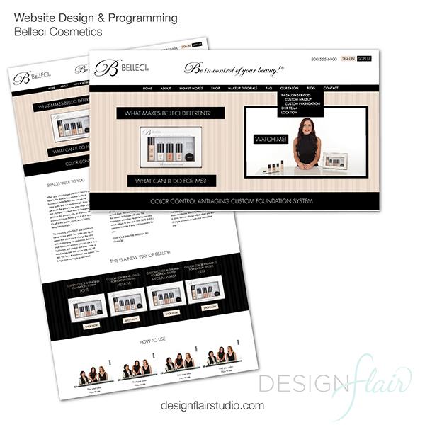 Belleci Cosmetics Website Design, Danville
