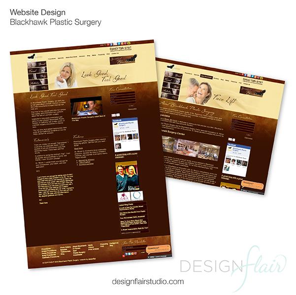 website graphic design, plastic surgery web design