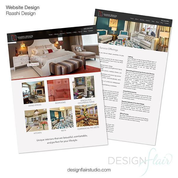 Website design for an interior designer