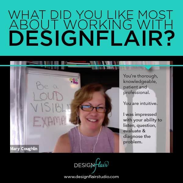 Designflair client testimonial - Mary