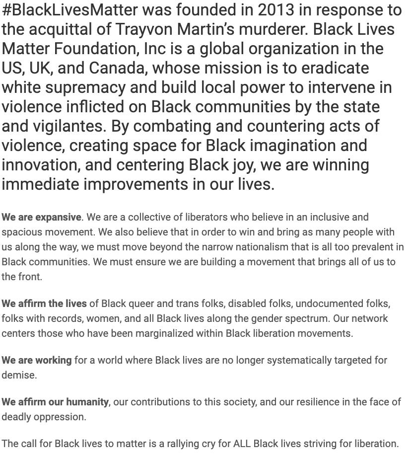 About Black Lives Matter