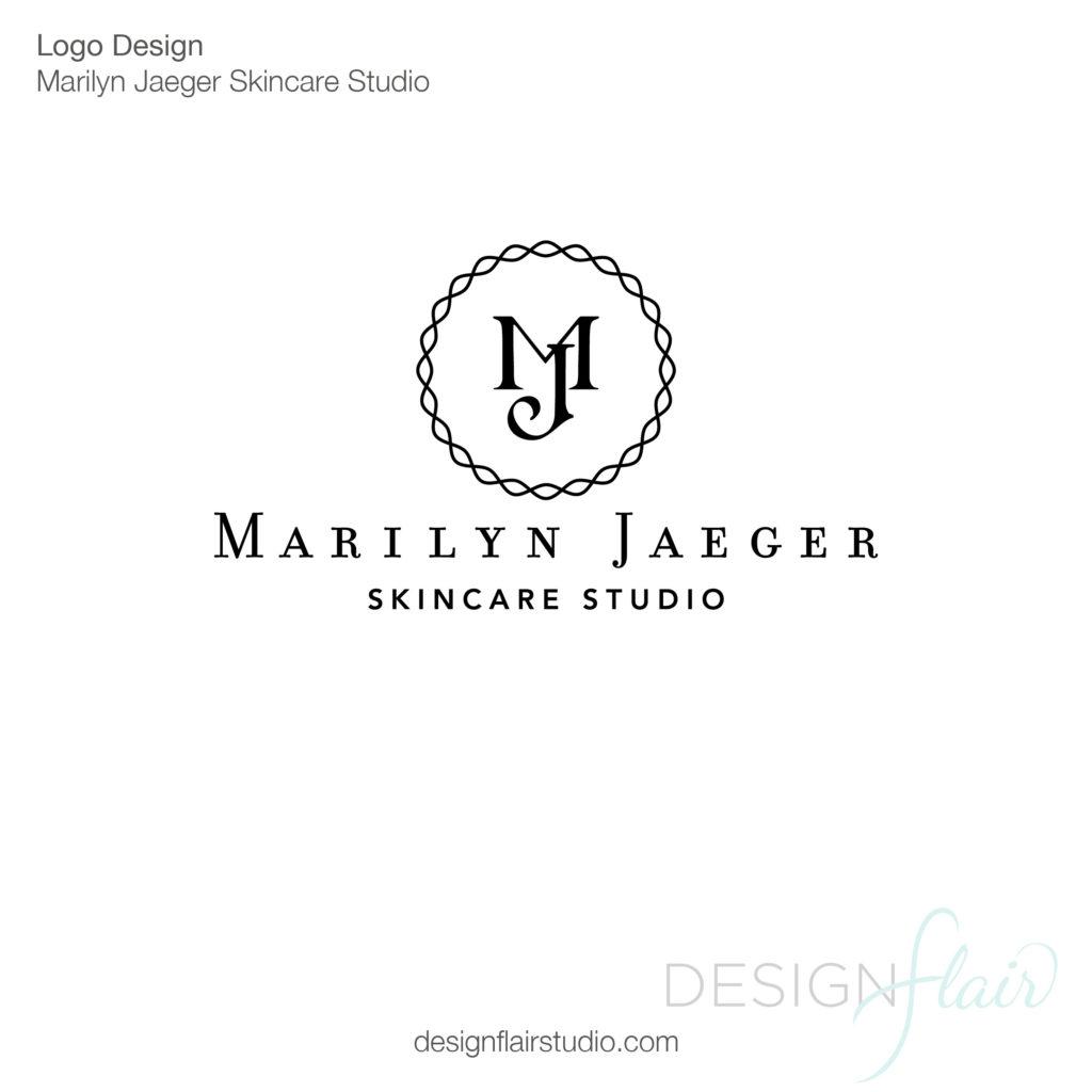 Marinlyn Jaeger Skincare Studio Logo Design