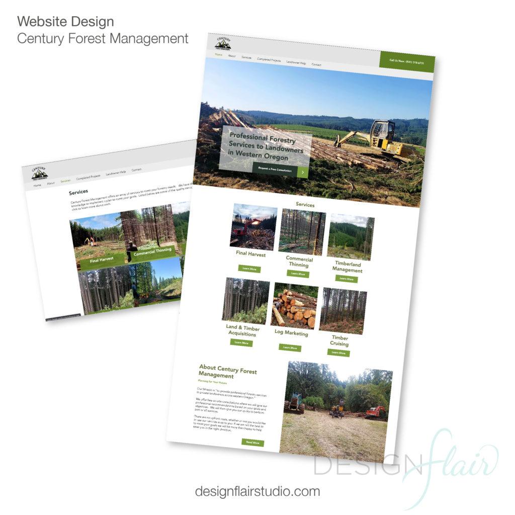 Century Forest Management Website Design
