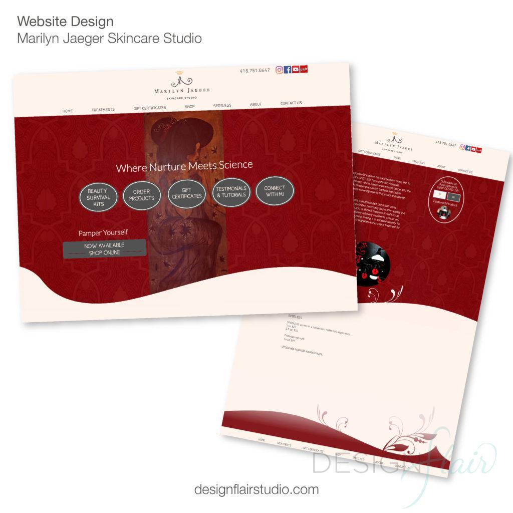Marilyn Jaeger Skincare Studio Website Design