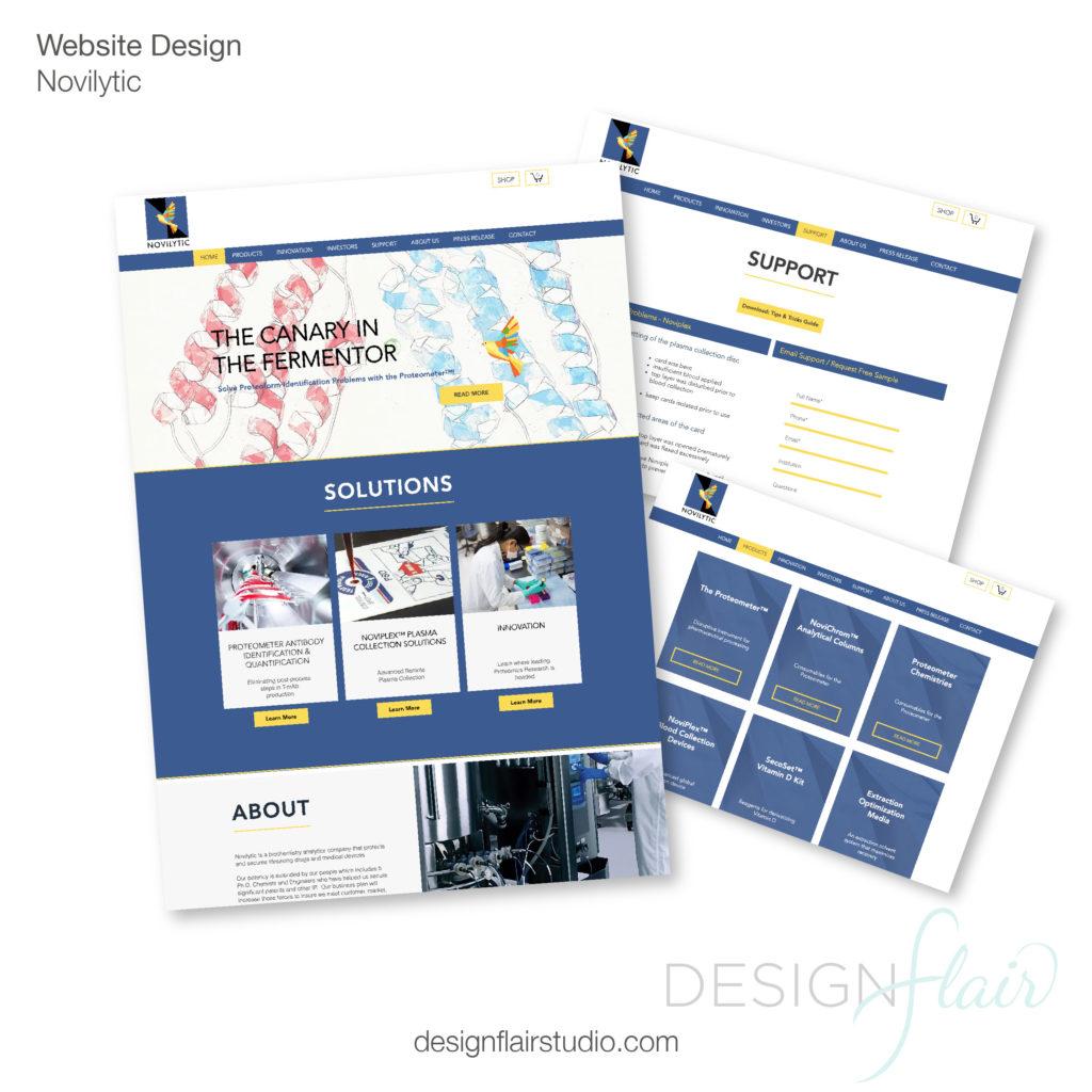 Novilytic Website Design