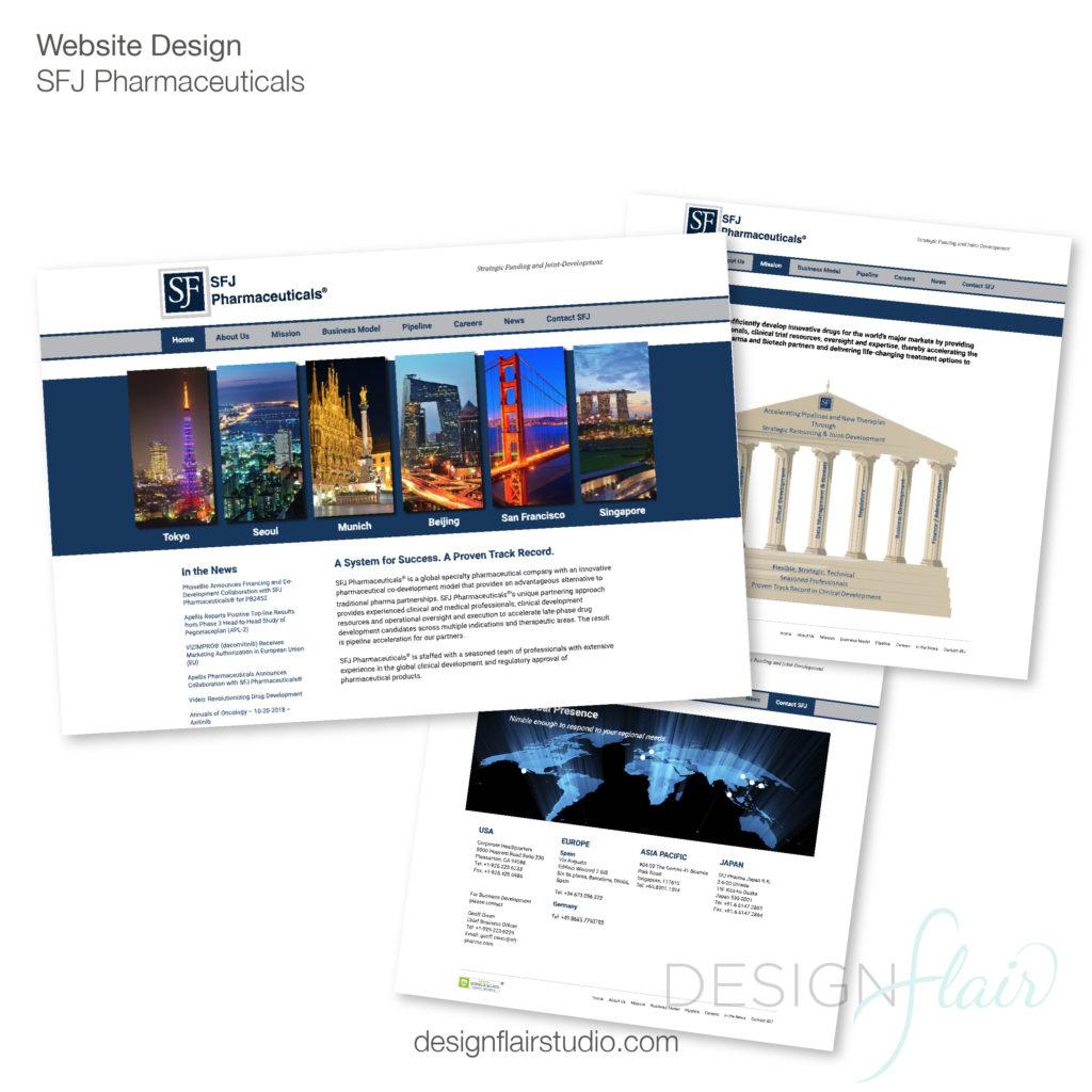 SFJ Pharmaceuticals Website Design