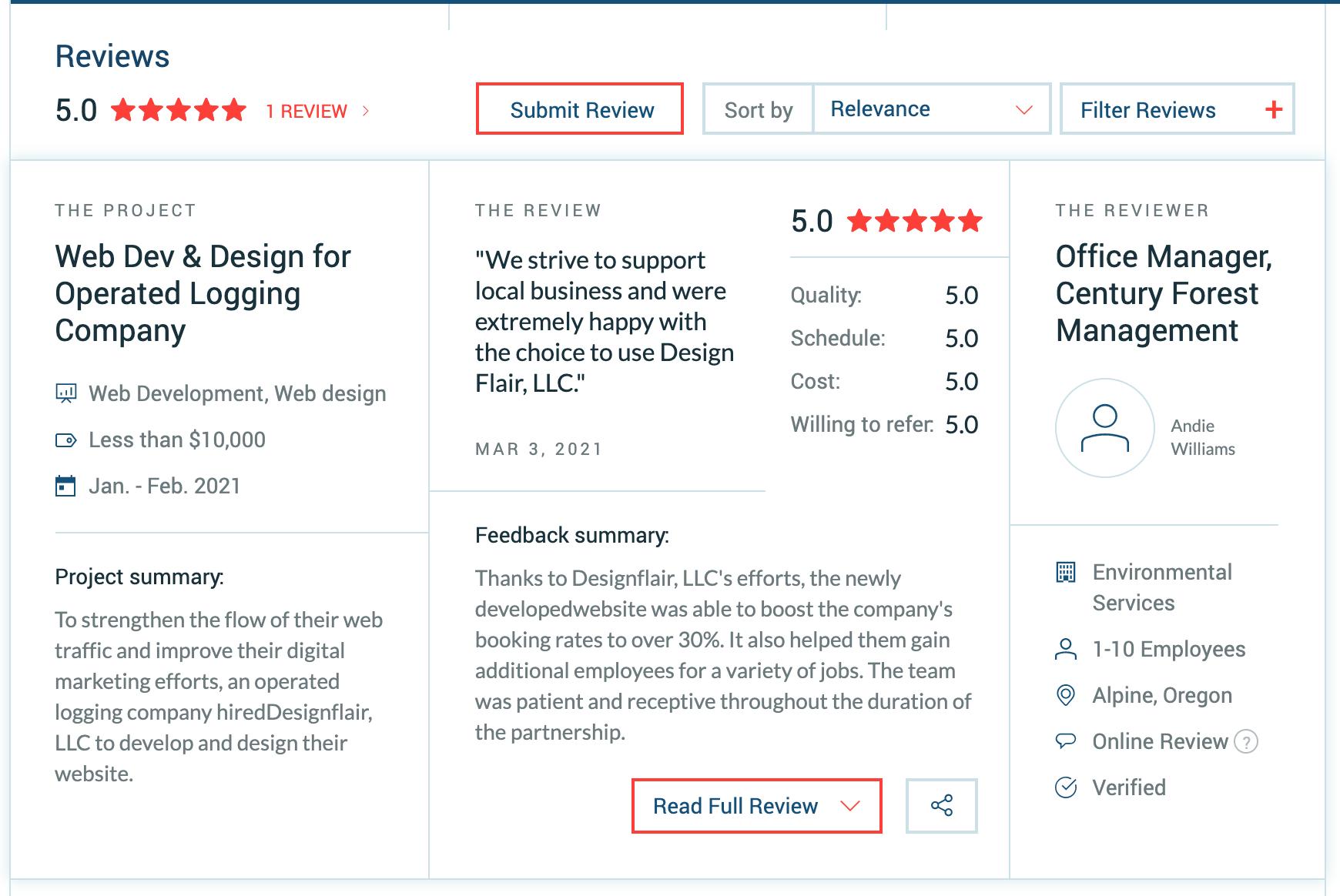 Clutch Designflair Review