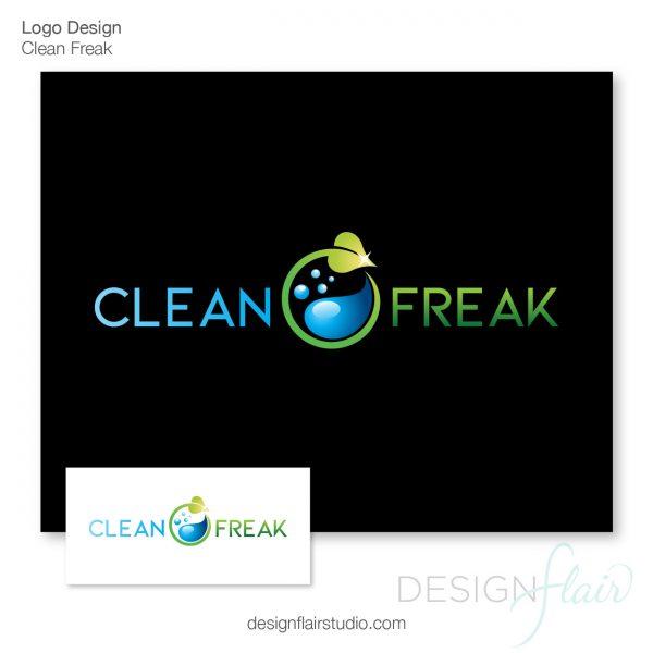 Logo Design Eugene - Clean Freak Cleaning Company