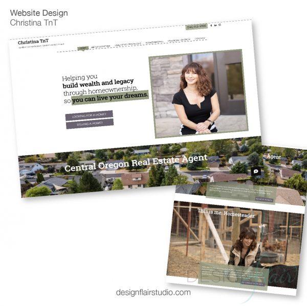 Website Design - ChristinaTnT Realtor Bend, OR