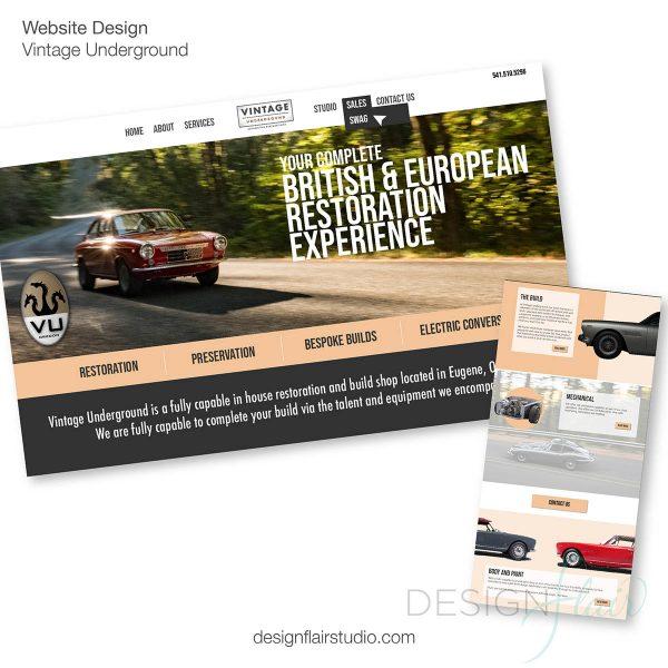 Automotive Restoration Website Design, Vintage Underground